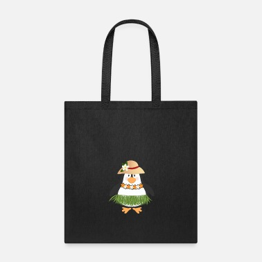 Aloha Hawaiian Hula Cartoon Penguin AT15 01 - Tote Bag