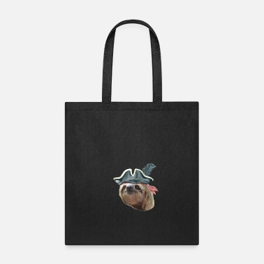 Monocle Sloth Pirate Hat monocle Sloths In Clothes - Tote Bag