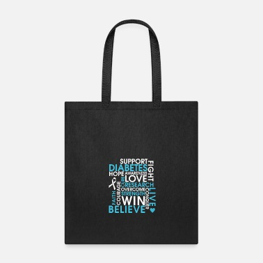 Support Diabetes - Diabetes Awereness Ribbon - Tote Bag