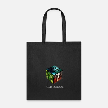 Cube cube old school retro geek univers mathematics LOL - Tote Bag