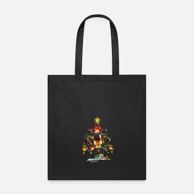 Wine Wine Christmas Tree Tee - Tote Bag