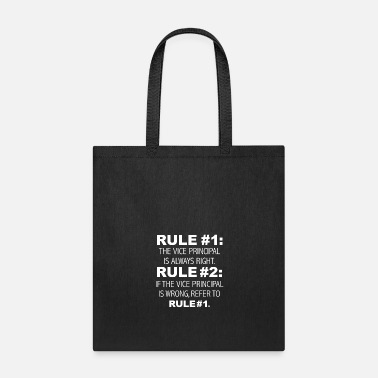 Christmas Rules Vice Principal is always right - Tote Bag