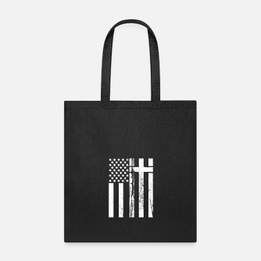 Cross Christianity Usa Flag Cross - Tote Bag