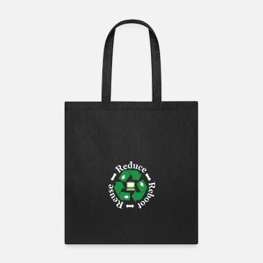 Reboot REDUCE REUSE REBOOT FUNNY GREEN TECHNOLOGY LOVERS - Tote Bag