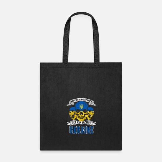 National Bags & Backpacks - Skull Ukraine Crimea Ukrainian nation - Tote Bag black