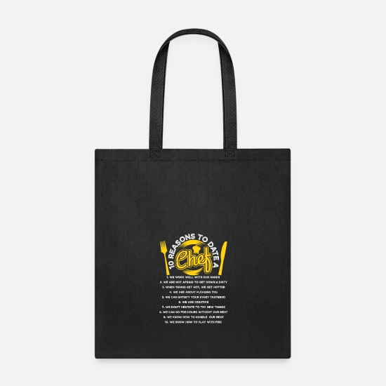 Date Bags & Backpacks - 10 Reasons to date - Tote Bag black