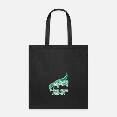 Pushup TRex Hates PushUps - Tote Bag