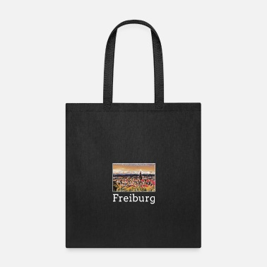 Freiburg Freiburg City Skyline Sights Silhouette Landmark - Tote Bag