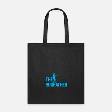 Fishing Rod Fishing Flag and fishing rod - The rodfather - Tote Bag