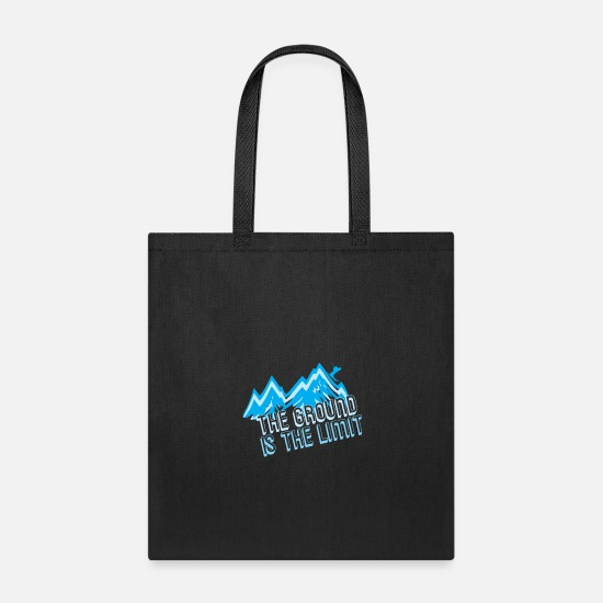 Gift Idea Bags & Backpacks - The Ground Is The Limit Ski Shirt - Tote Bag black