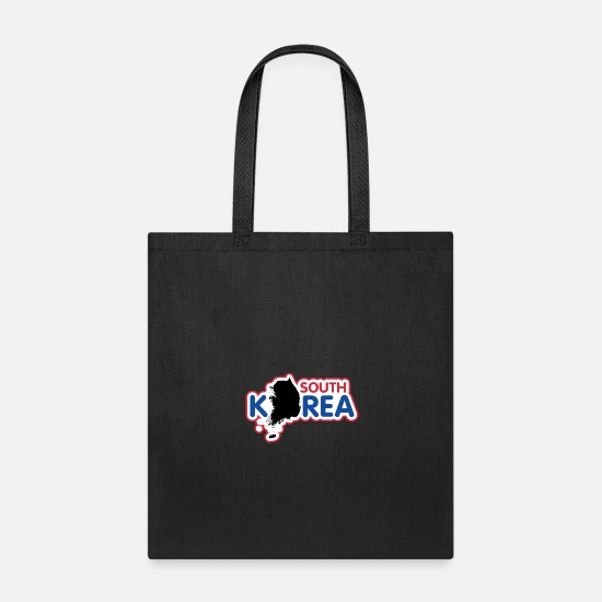 Korea Bags & Backpacks - North Korea South Korea Korea flag banner - Tote Bag black