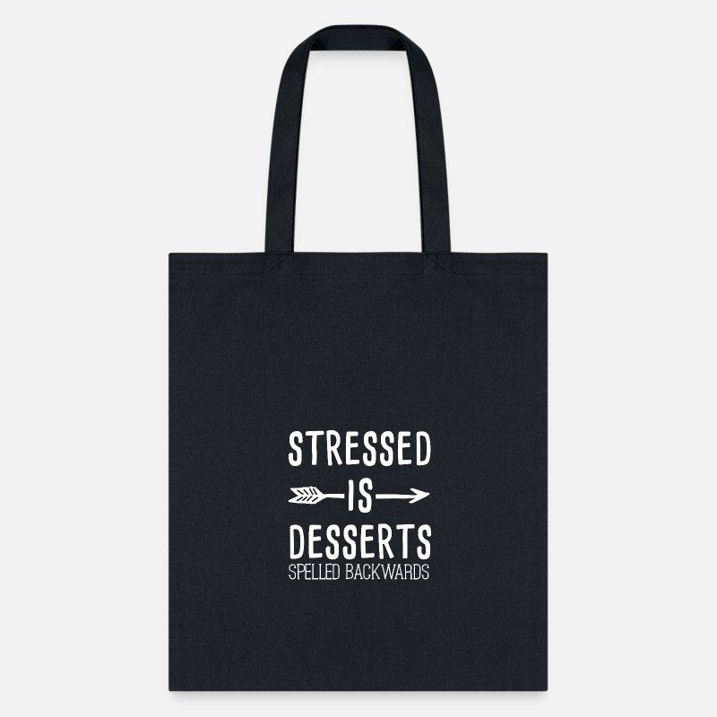 4e37b6c102c5 Stressed IS DESSERTS SPELLED BACKWARDS GIFT Tote Bag