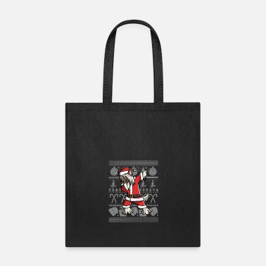 Surprise Chinese Crested Dabbing Ugly Christmas - Tote Bag