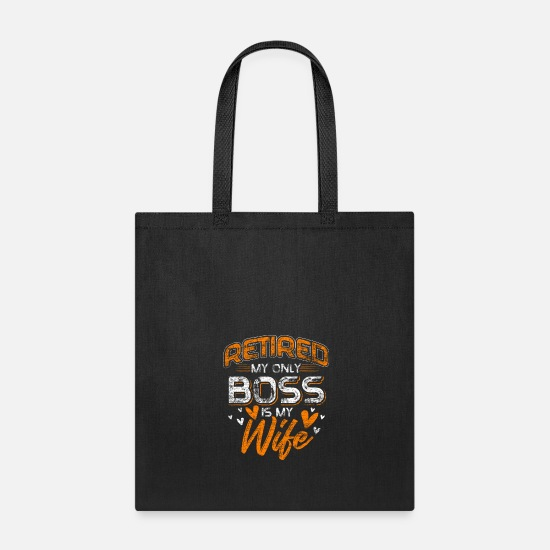 Retirement Bags & Backpacks - Retired - Tote Bag black