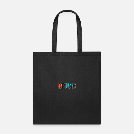3d Bags & Backpacks - Drunk Anaglyph 3d Text - Tote Bag black