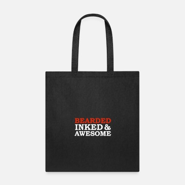 Manly Beard Inked and Awesome Manly Bearded Tattoos - Tote Bag
