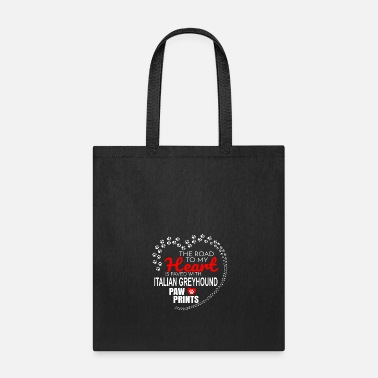 Paw Print The Road To My Heart Is Paved With Italian - Tote Bag