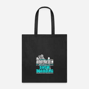Mountains Snowboarding addiction - Tote Bag