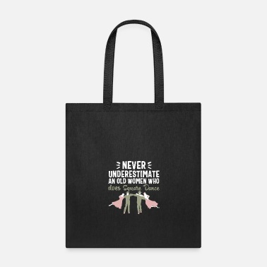 Western Square dance women men t-shirt dancing old couple - Tote Bag