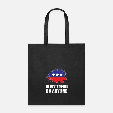 Porcupine Libertarian Porcupine Logo Don't Tread on Anyone - Tote Bag