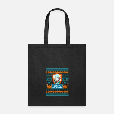 Light Jet Ski Like a Bearded Senior Viking Ugly Xmas - Tote Bag