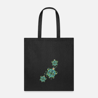 Tropical Tropical Colors Hawaiian Honu Sea Turtles - Tote Bag