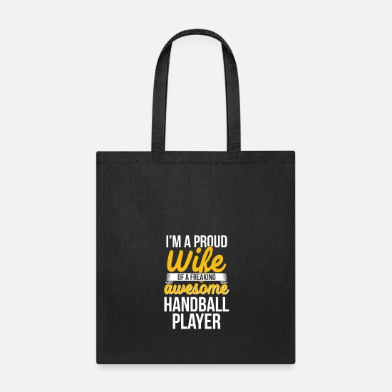 Gift Idea Bags & Backpacks - Handball Ball Sports Handball Gift - Tote Bag black