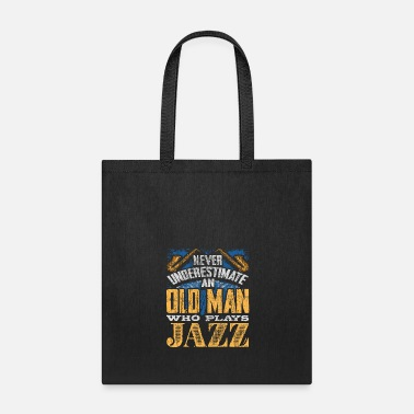 Metal Music Old man Jazz - Tote Bag