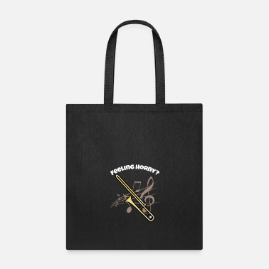 Brass Band Funny Trombone design Brass Horn Marching Band - Tote Bag