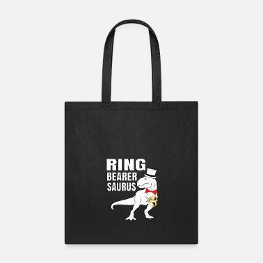 Engagement Ring Bearer saurus rex t funny shirt boys wedding - Tote Bag