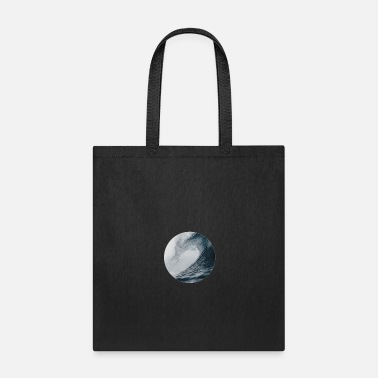 Tempest Circle of Waves - Ocean Waves Crashing Down - Tote Bag