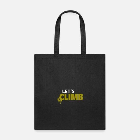 Mountain Bags & Backpacks - Climbing gift mountains climbing wall - Tote Bag black