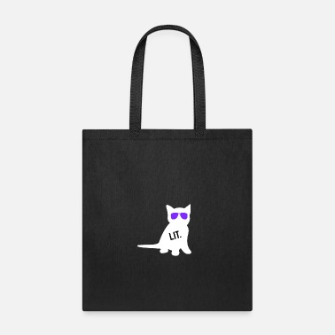 Satire Funny We Lit Cat Kitty Wildlife Pet Sunglasses - Tote Bag