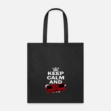 Calm Keep Calm And Deny Everything tee design for - Tote Bag