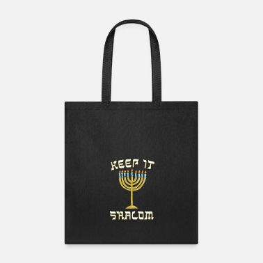 Menorah Keep is Shalom Hanukkah Menorah - Tote Bag