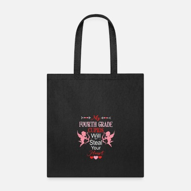 Steal Teacher Valentine Fourth Grade Cupids Steal Hearts - Tote Bag