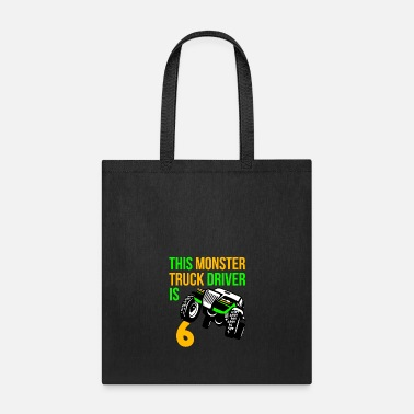 Old Monster Truck Birthday 6 Year Old Gift - Tote Bag
