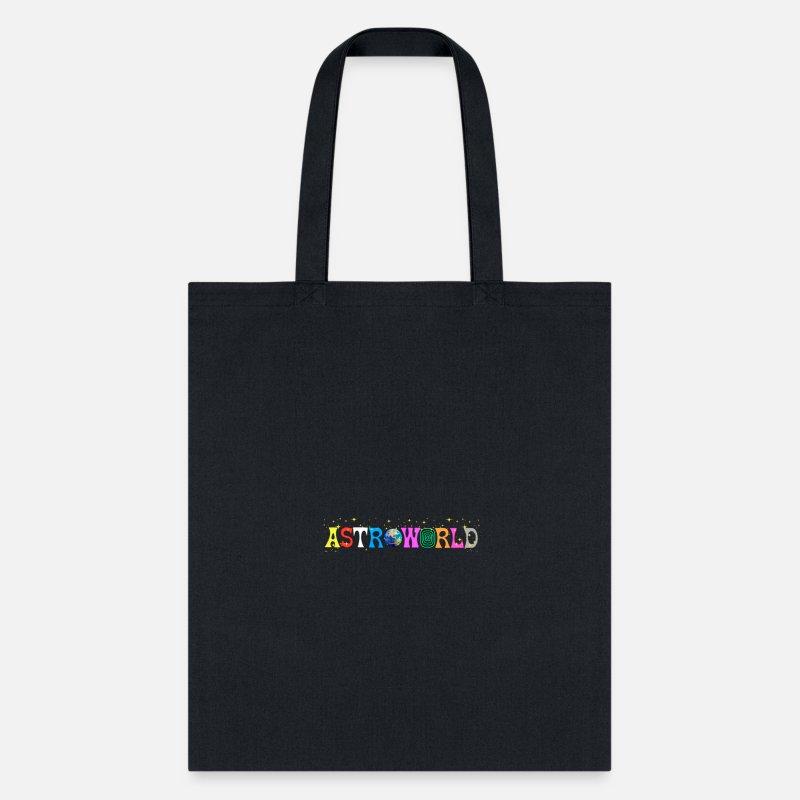 Scott Astroworld Letter Print Tote Bag - navy