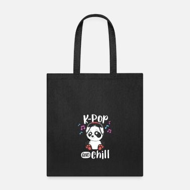 Kpop KPop And Chill TShirt Teens Panda KPop Quote - Tote Bag