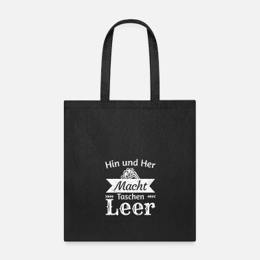 Euro Back and forth, empty pockets! - German saying - Tote Bag