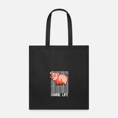 Swine Fever Funny Swine Life OMG Pig Tee - Tote Bag