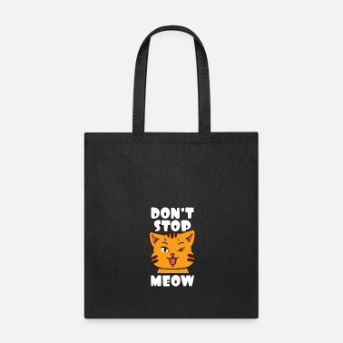 Wink Cat Wink Pun Feline Meow | Animal Humor - Tote Bag