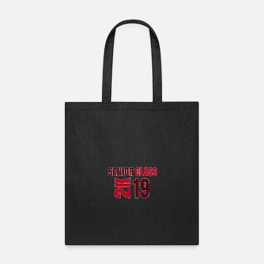 Grad School Senior Class 2K Trendy Buffalo Plaid Graduate 2019 - Tote Bag