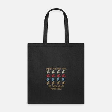 Quotes Knitting Retro Vintage 1970's Style - Tote Bag