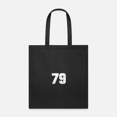 Jersey Number 79 SPORTS NUMBER TEAM FAN # 79 BIRTHDAY 1979 GIFT - Tote Bag