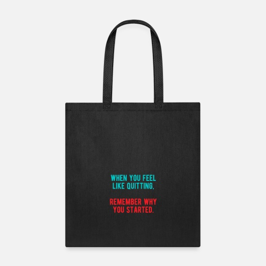 Fate Bags & Backpacks - Mindset Afford Effort Motivation Quote Sayings - Tote Bag black