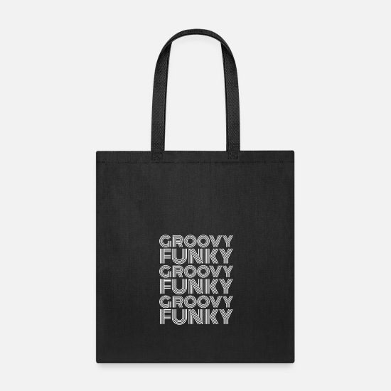 70s Bags & Backpacks - Groovy Funky Disco - Tote Bag black