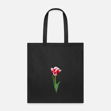 Calm Red, White Tulip Lover Flower Blossom Holland - Tote Bag