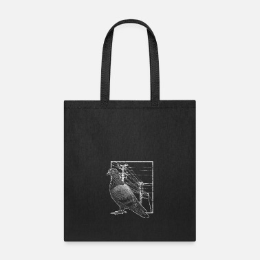 Electrical Line Pigeon Electric Line - Tote Bag