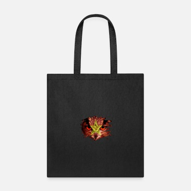 Reunion Vietnam Flag and Menacing Owl - Tote Bag